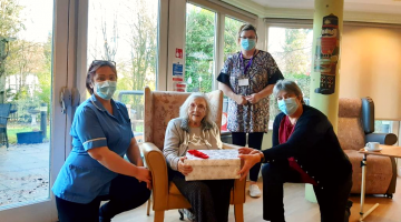 Residents receive gifts at Hertfordshire Care Homes